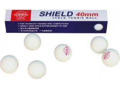 Unison Míčky na stolní tenis Shield 4cm bezešvé - bílé
