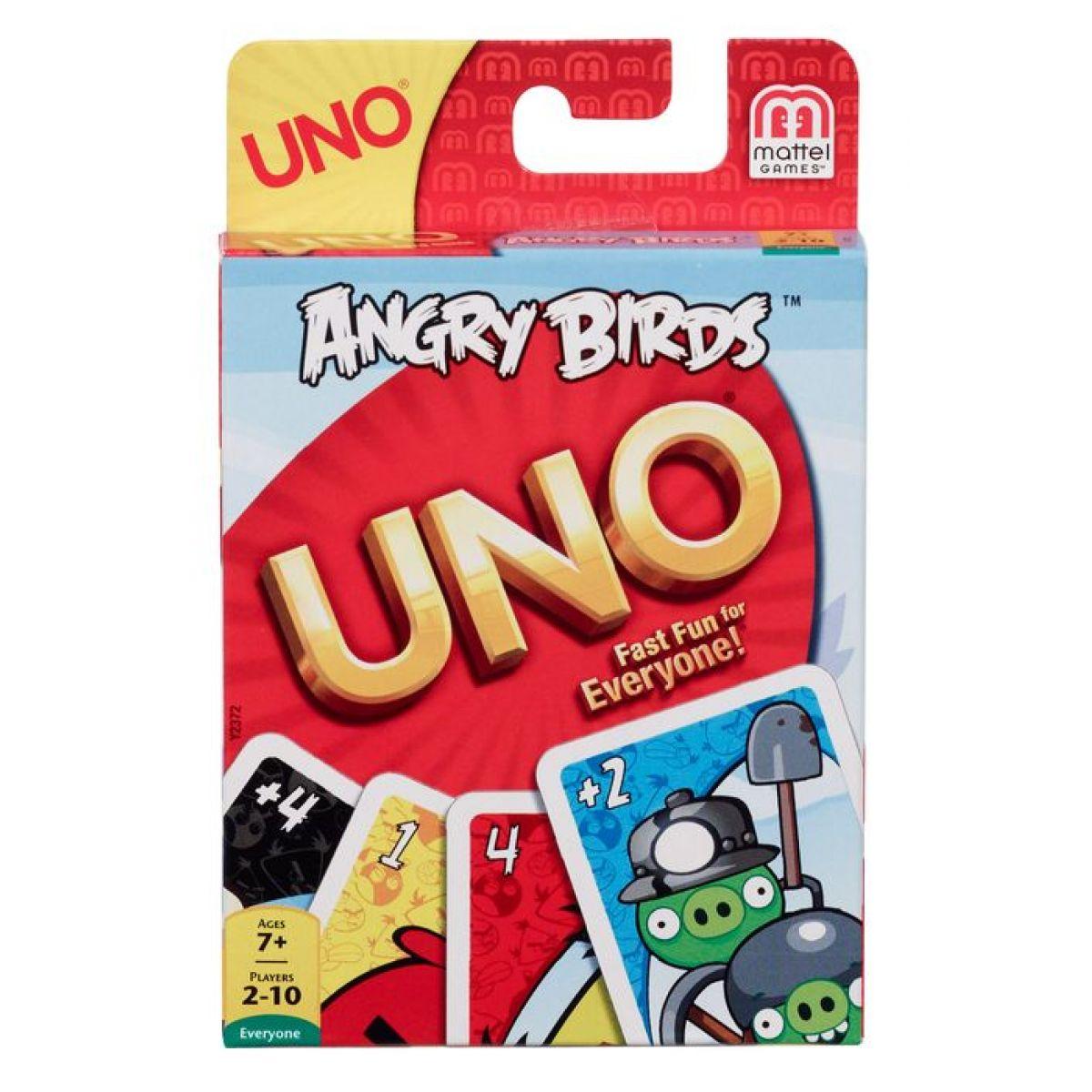 UNO karty Angry birds Mattel Y2372