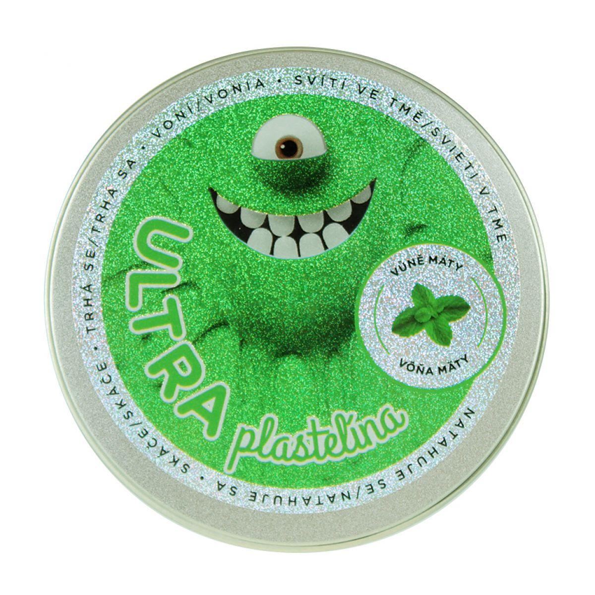 Ultra Plastelína s vůní a glitry - Svítící ve tmě 50 g