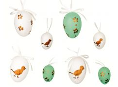 Vajíčka plastová na zavěšení 4 x 6 cm, 4 x 4 cm v sáčku