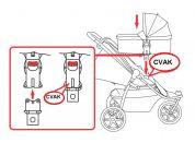 Valco Baby Adaptér pro pevnou korbu Q - Poškozený obal