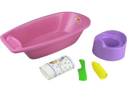 Vanička s nočníkem a doplňky - Růžová vanička