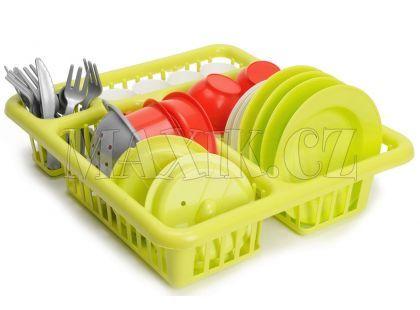 Velký odkapávač s nádobím 30 cm - Zelená