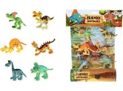 Veselá zvířátka Dinosauři 6ks v sáčku
