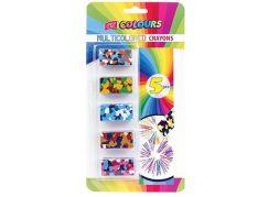 Vícebarevné voskovky obdélníkový tvar 5 barev