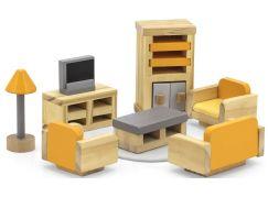 Viga Dřevěný obývací pokoj