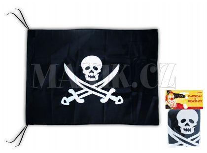Vlajka pirátská s potiskem