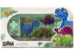 Vodní hra hlavolam s dinosaurem zelená