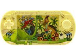 Vodní hra hlavolam s dinosaurem žlutá