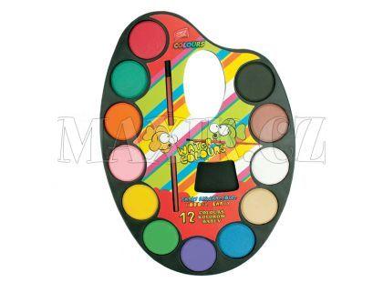 Vodové barvy - malířská paleta 12 barev