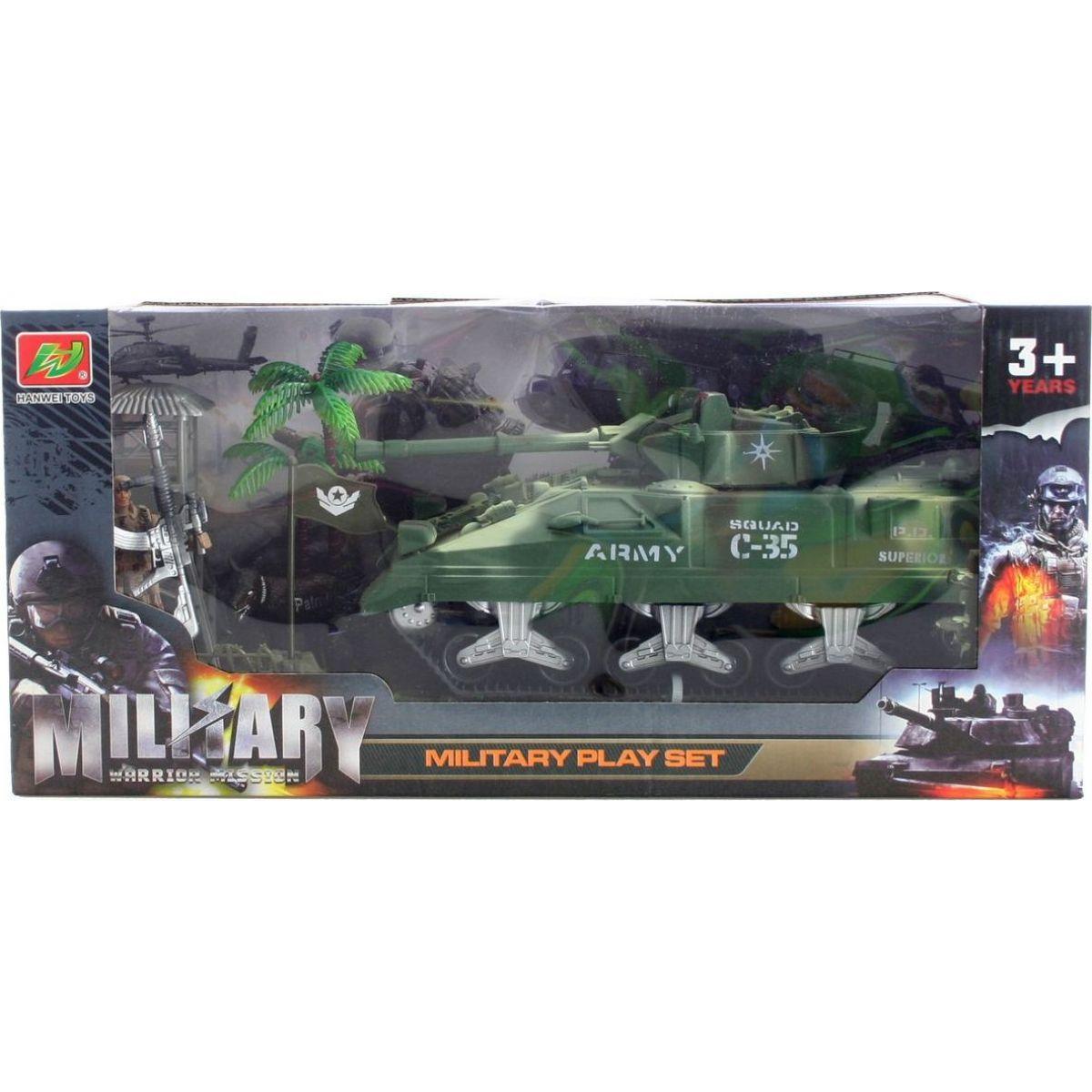 Vojenský tank sada s doplňky