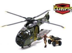 Vojenský vrtulník 47 cm