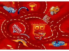 Vopi Cars Koberec červený 200x200cm