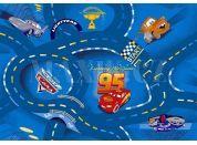Vopi Cars Koberec modrý 133x165cm