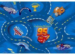 Vopi Cars Koberec modrý 200x200cm