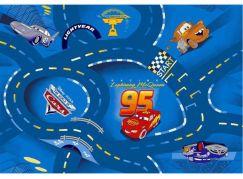 Vopi Cars koberec World of Cars modrý 95 x 200 cm