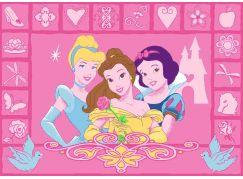 Vopi Dětský koberec Disney Princess Icons
