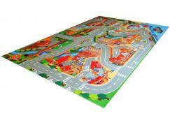 Vopi Hrací koberec město s přístavem 100 x 150 cm