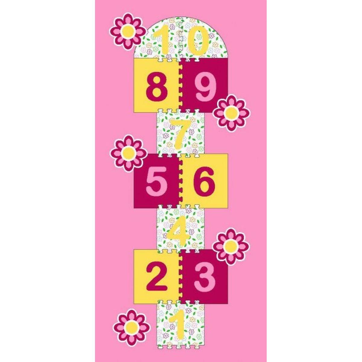 Vopi Koberec Skákací panák růžová 95x200cm
