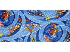 Vopi Planes Dětský koberec modrý