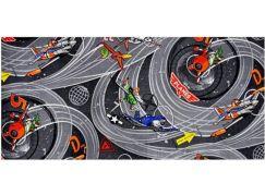 Vopi Planes Dětský koberec šedý 200x200cm