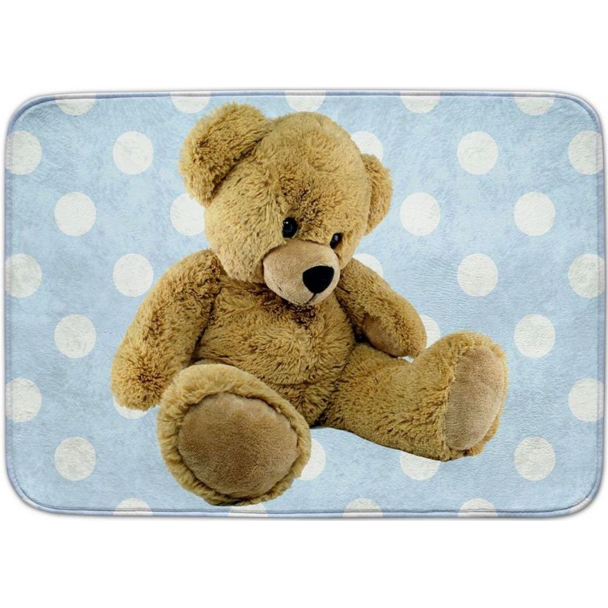 Vopi Ultrasoft koberec Medvídek modrý 130x180 cm