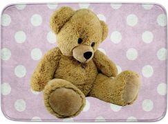 Vopi Ultrasoft koberec Medvídek růžový 70x100 cm
