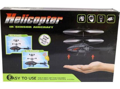 Vrtulník se senzorem na ruku