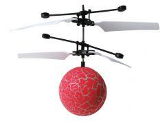 Vrtulníková koule s LED červená