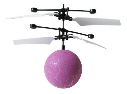 Vrtulníková koule s LED fialová