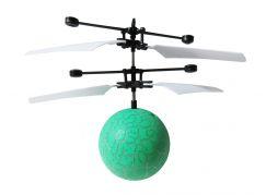 Vrtulníková koule s LED zelená