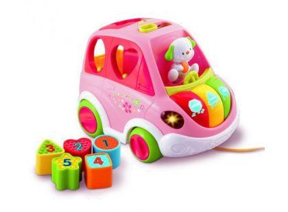 VTech Mluvící auto vkládačka růžové
