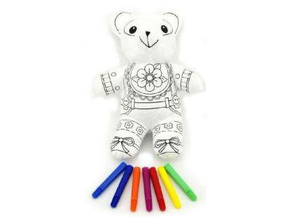 Vymaluj si svého medvídka 30cm + fixy 7ks