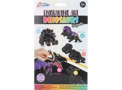 Vyškrabovací obrázek dinosauři