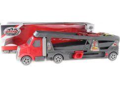 Vystřelovací kamion s přepravníkem včetně 4 autíček