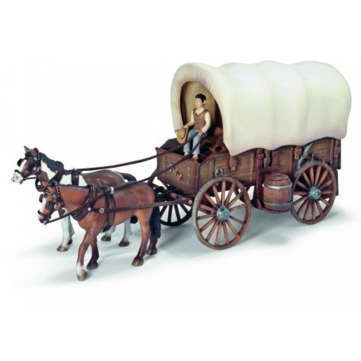 Vůz s plachtou a koňmi - Schleich 42024