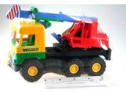 Wader Auto middle Truck jeřáb 36cm Žlutá kabina