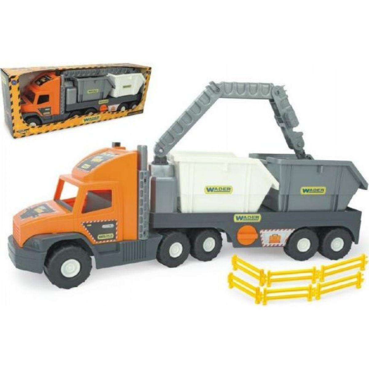 Wader Auto Super Tech Truck kontejner šedá kabina