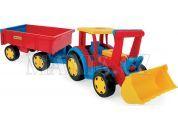 Wader Gigant Traktor s nakladačem a vlekem