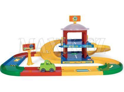 Wader Kid Cars Garáž s dráhou 3,4m