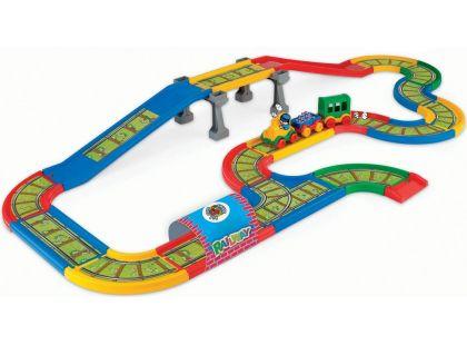 Wader Kid Cars Železnice s městem 4,1m