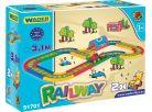 Wader Kid Cars Železnice s městem 4,1m 5