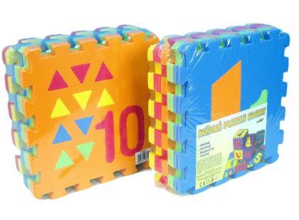 Wiky Pěnové puzzle Počítání a tvary 10ks