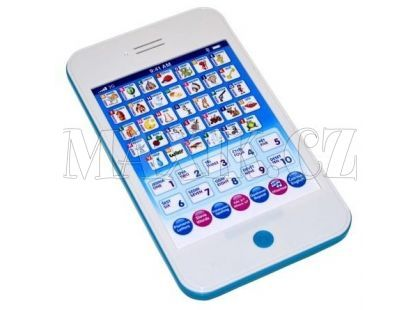 Wiky Tablet Mini česko-anglický 20cm - Modrá