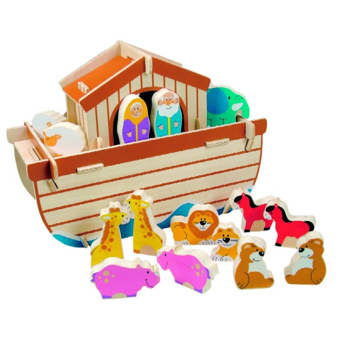 WOODY 90025 Skládací Noemova archa 28 dílů