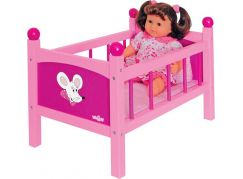 WOODY 91300 Postýlka pro panenku s peřinkami - Trendy