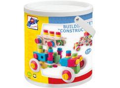 Woody Constructor Montážní stavebnice v kyblíku 144 dílů