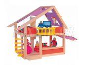 Woody Domeček pro panenky moderní s markýzou