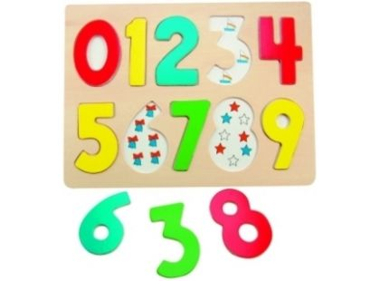 Woody Dřevěné puzzle číslice