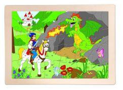 Woody Dřevěné puzzle Princ Bajaja 24 dílků